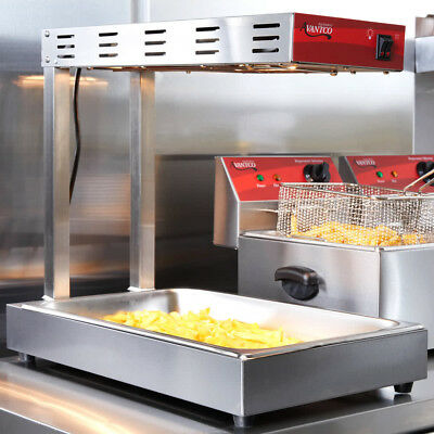 Avantco Commercial Infrared French Fry Warmer Fryer Dump Station 1000W Heat Lamp