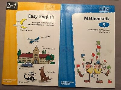 2 Lük Hefte Easy English und Mathematik Klasse 5