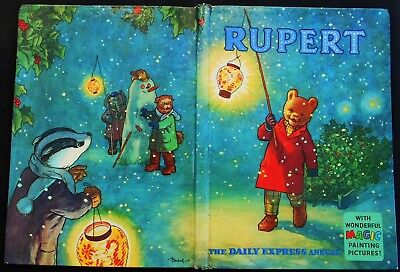 Vintage Original 58 Year Old 1960 Rupert Bear Annual