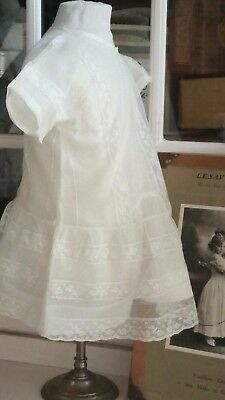 Robe ancienne 1925 enfant Dentelle Antique Victorian Edwardian child dress