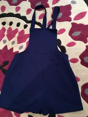 Vintage Retro Child's St Michael Junior Miss Navy Dungarees
