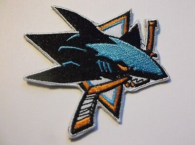 """San Jose Sharks Embroidered Patch~3"""" x  2 7/8""""~Iron Sew On~NHL~Ships FREE"""