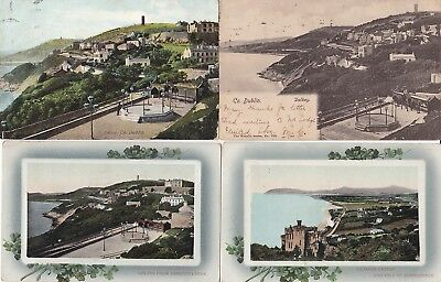 Dalkey 1904-13, Four Attractive Used Cards, Incl. Wrench