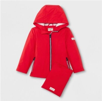 *~*~*** HUNTER For Target Toddler Silver Packable Rain Coat 4T / 5T ***~*~*