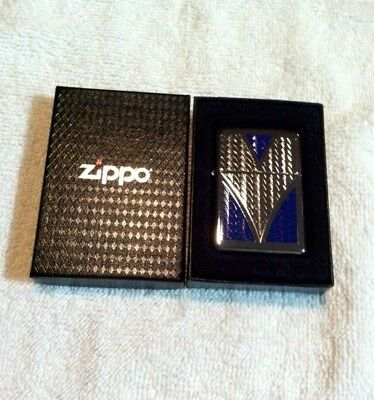"""New Old Stock Hard To Find Zippo Lighter Choice""""deep V""""hp Chrome Beautiful Look!"""