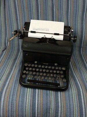 Antique L.C. Smith & Corona Super Speed Typewriter with Glass Keys As Found