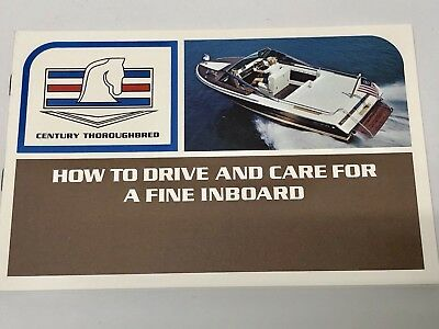 Century Boat~Original 1970's Inboard Manual~Resorter~Arabian~Coronado