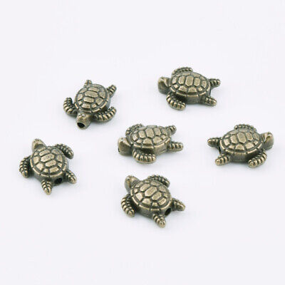 Lot Metal Ancient Bronze Turtle Loose Spacer Beads DIY Bracelet Necklace 13x12mm
