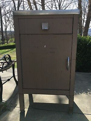Vtg 30s 40s Simmons American Medical Metal Industrial Cabinet Art Deco