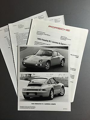 1995 Porsche 911 Carrera 2 PCNA Press Kit, Press Release, Pressemaappe RARE!!