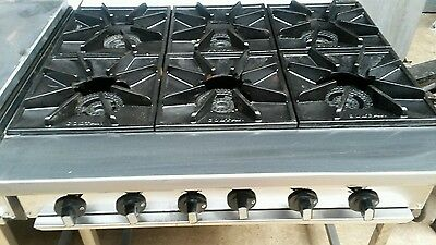 Commercial 6 burner cooker table top