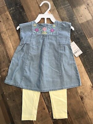 NWT Carters Girls Baby 12 Months Spring 2-piece Outfit Brand New