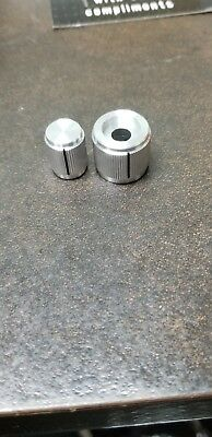 "Alcoknob  1/4"" shaft clear .Aluminum Knobs NOS Qty 5"