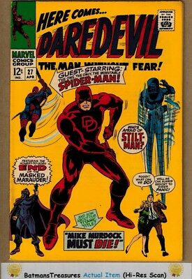 Daredevil #27 (9.0) VF/NM Spider-Man Appearance 1967 Silver Age By Stan Lee