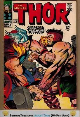 The Mighty Thor #126 (6.5) Fine+ Hercules App 1st Title Issue 1966 By Stan Lee