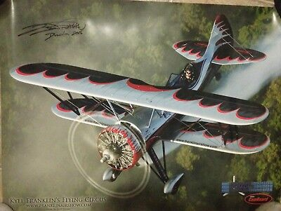 kyle franklin flying circus airshow poster signed