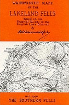 Wainwright Maps of the Lakeland Fells: Map 4: Southern Fells by Alfred...