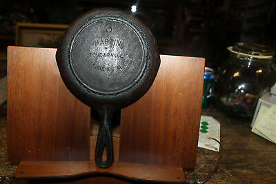 Antique Martin Stove & Range Co. # 3 Cast Iron Skillet With Heat Ring