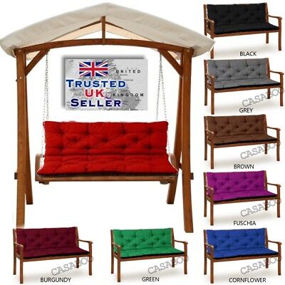 Waterproof Replacement 1-4seater Cushion for Garden Swing Bench Chair 50-180cm
