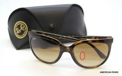 RAY-BAN WOMEN S CATS 1000 Brown Sunglasses RB4126-710 51 -  69.99 ... 5bb105289040