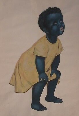 BLACK AMERICANA 19th C. AFRICAN AMERICAN China Trade Artist RARE Pith PAINTING !