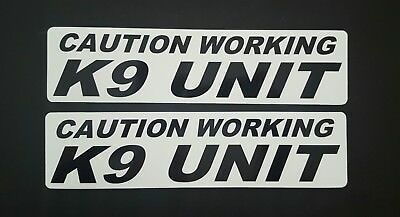 2 - CAUTION WORKING K-9 UNIT MAGNETIC SIGNS car truck Van SUV Police Dog