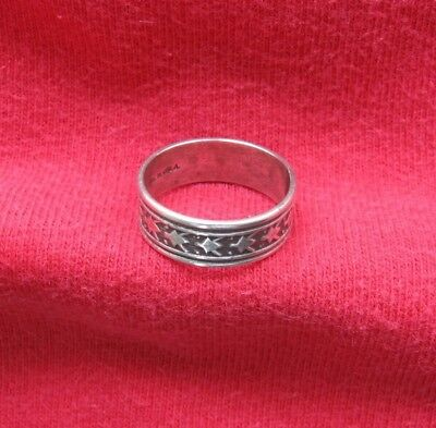 Vintage UNCAS Sterling Silver Band Ring with Designs