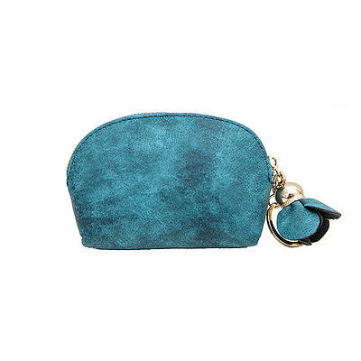 Chic Women Green Faux Leather Wallet Card Key Holder Zip Coin Purse Clutch Lady