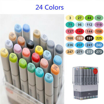 24/36/72 Color Graphic Marker Pen Set Sketch Drawing Art Markers Alcohol Bas Set
