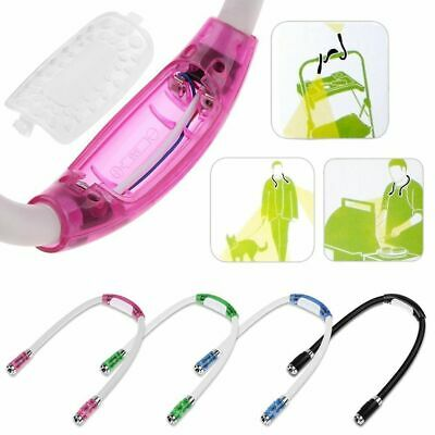 Flexible Adjustable 4 LED Study Reading Hug light Neck Book Night Lamp Torch EU