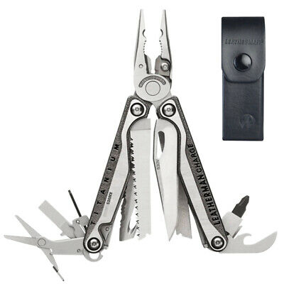 2018 Latest Leatherman Charge Tti + Plus Titanium Multi-Tool + Leather Sheath