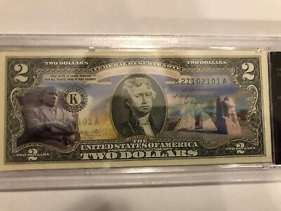 Martin Luther King, Jr. Memorial Note Colorized Enhanced $2 Bill