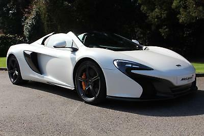 2015 McLaren 650S Spider with Enhanced Technology Pack Petrol white Semi Auto