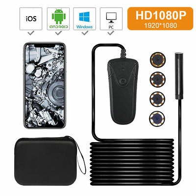 16FT HD Endoscope Wifi 1080P Inspection Camera Scope For Iphone Samsung + Rod