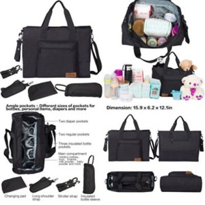 Large Diaper Organizer Backpack Mom & Dad Travel Carry Messenger Nappy Tote Bag