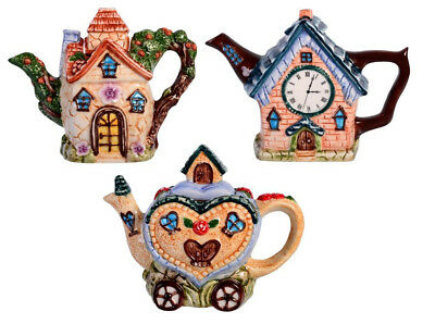 New - Home Decor Novelty Collectable Teapot - 20Cm - With Clock