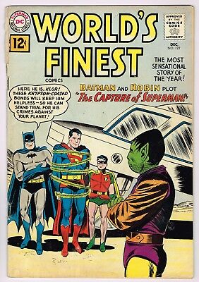 World's Finest Comics #122 -Rare Comic Book -Dc Dec 1961- Batman Superman Robin!