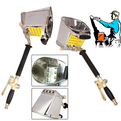 4 Jet Cement Mortar Sprayer Hopper Wall Plastering Paint Gun Stainless Steel US