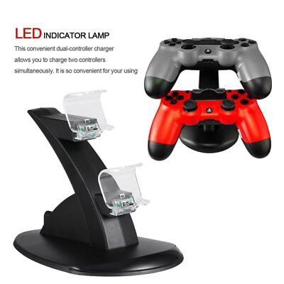 For PlayStation PS4 Dual Controller Charger Dock Station USB Charging Stand HS