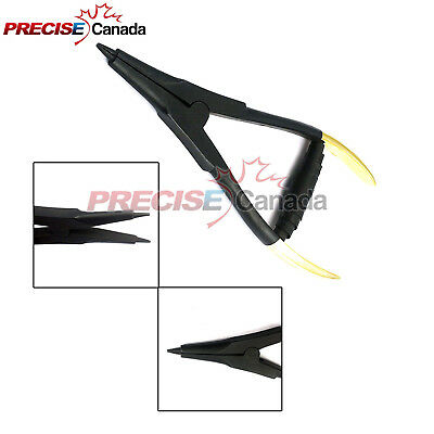 PRECISE CANADA Ring Opening Plier 6'' (Black & Gold) Body Piercing Tools