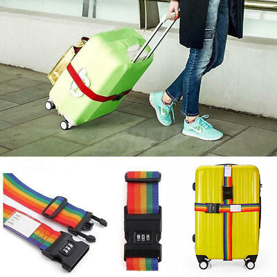 TSA Password Travel Luggage Suitcase Secure Coded Lock 2m Belt Strap Safety