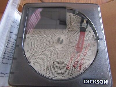 Dickson SK4350, 4 Inch Rotary Temperature Chart Recorder - NEW - T&M 436698