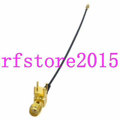 Cable 1.37mm 4inch SMA Female right angle PCB Mount to IPX U.fl female FPV