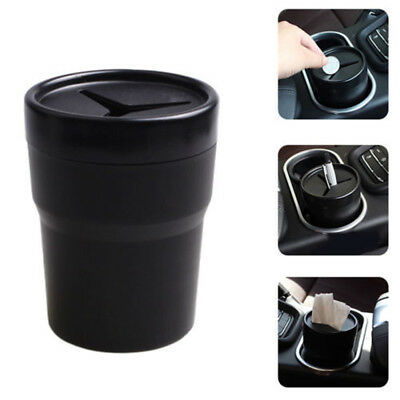 Auto Car Trash Bin Waste Storage Garbage Can Litter Dust Compact Case Holder New