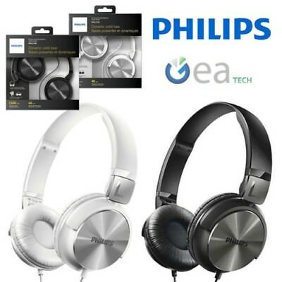 PHILIPS cuffie dj design Originale Schwarz Kabel 1.2mt Jack 3.5mm 32mm