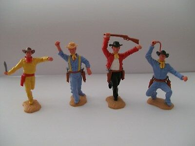 all timpo toy cowboys in good condition and great price for buyer