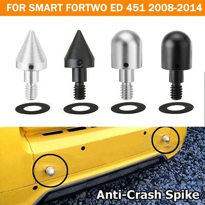 1/2x Front/Rear Bumper Spike Guards Protector For SMART Fortwo ED 451 2008-2014