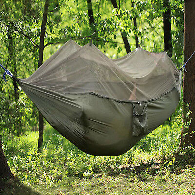 Double Person Travel Outdoor Hammock Camping Swing Hanging Bed With Mosquito Net