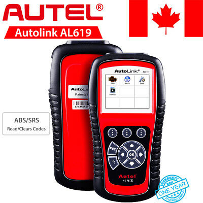 Autel AL619 OBD2 Diagnostic Tool Code Reader Scanner ABS SRS TFT Color Display