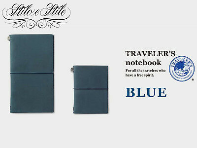 Traveler's Notebook Blue 2018 Regular e Passport Size Traveler's Company Midori